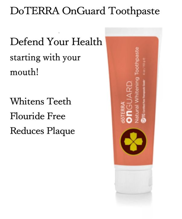 Doterra Onguard Natural Whitening Toothpaste on doterra product information page